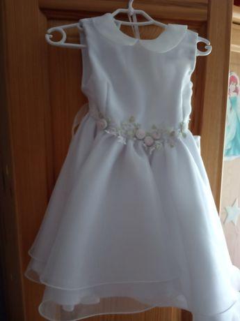 Sukienka, komplet do chrztu z plaszczykiem+kapelusik