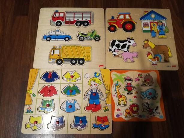 Drewniane puzzle dla najmłodszych