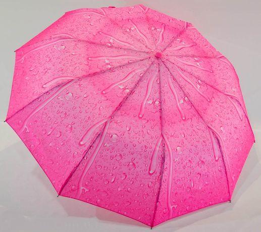 Женский зонт Полуавтомат, антиветер, 10спиц карбон зонтик складной