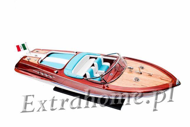 Drewniany model. Łódź motorowa / motorówka replika łodzi Riva L: 90 cm