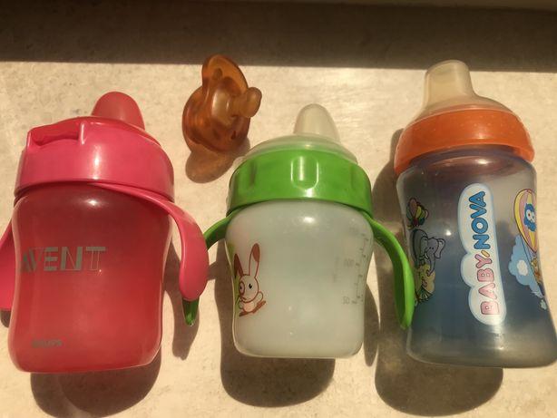Детские бутылочки-чашки непроливайки