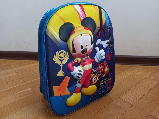 Plecak 3D niebieski Myszka Mickey Disney Junior Nowy