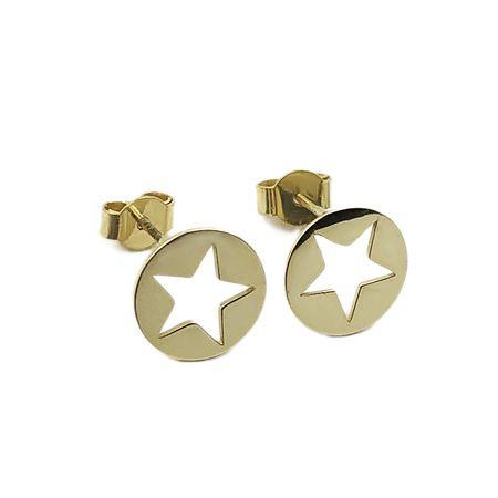 Złote Kolczyki Gwiazdki 585 - Goldrun - Rabaty