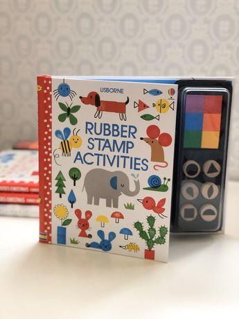 Usborne Rubber Stamp Activity,книга игрушка со штампами