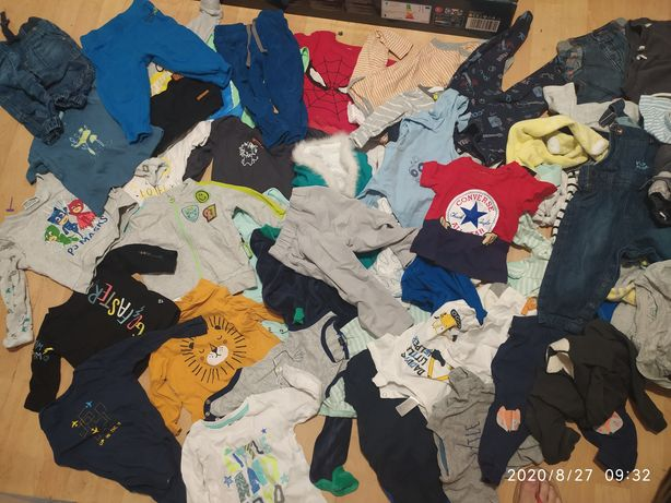 Ubranka chłopięce stan idealny 70-86 Converse, Reebok, hm i inne