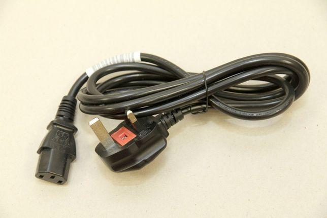Kabel przewód zasilający -UK- konsolę, monitor, komputer - 1,7m