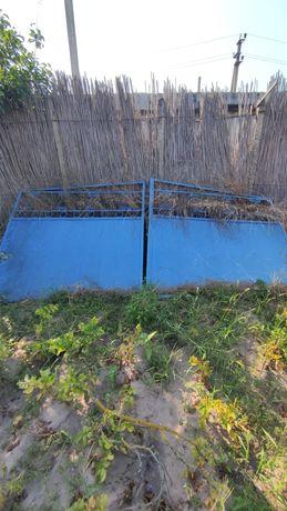 Металлические ворота и калитка бу