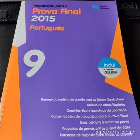 Livro Preparação para Exame de Português 9º Ano, com CD