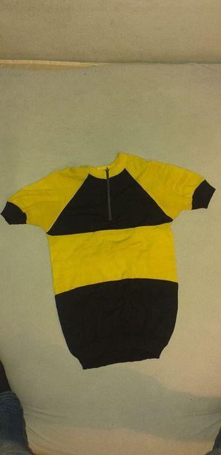 Huragan Bałtyk zabytkowa koszulka kolarska retro zabytkowy rower