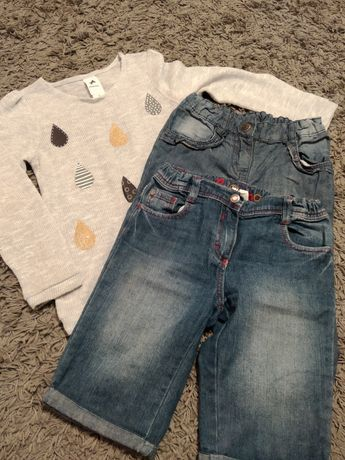 Zestaw Palomino spodenki jeansowe, sweterek