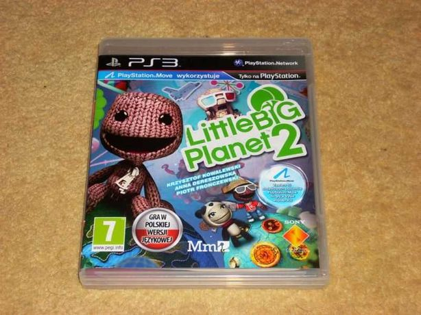 Gra oryginalna na PS3 Little Big Planet 2. Polska wersja językowa