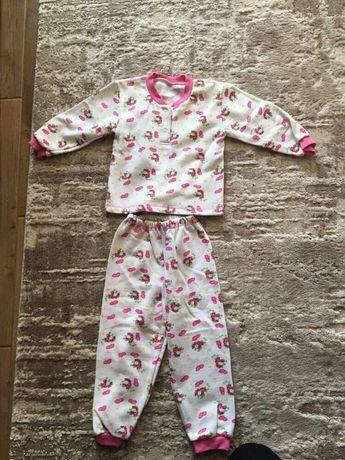 пижама байка новая 92 р піжама нова утеплена начес начос кофта нарядна