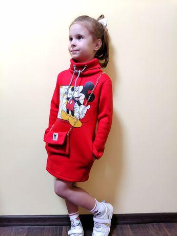 Детское тёплое платье.