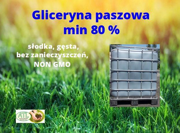 Gliceryna paszowa min. 80 % (gęsta, czysta)