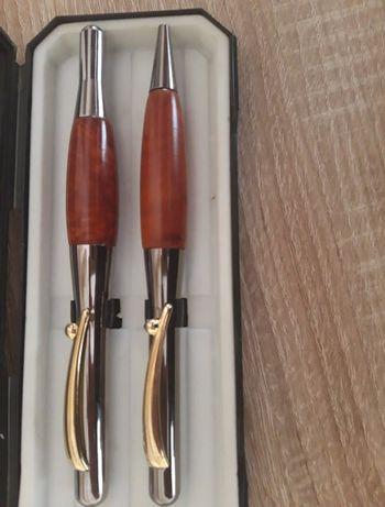 STILUS- pióro złoto+prawdziwe drewno, unikat