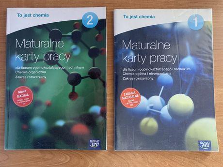 Maturalne karty pracy z chemii 1-2, nowa era