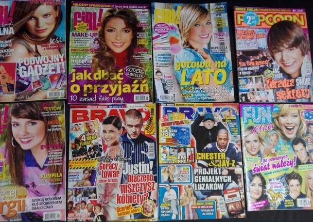 Stare gazety i plakaty z czasopism Bravo Popcorn Bravo Girl i inne