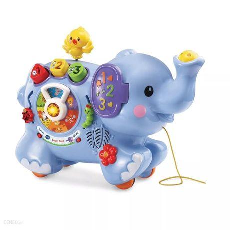 Vtech, Super Słoń edukacyjny, interaktywna zabawka do ciągnięcia
