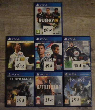 Fifa Nhl Battlefield Rugby Horizon Titanfall Gry PS4 stan BDB