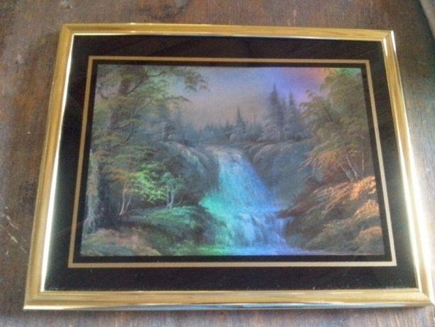 картина голограма пейзаж водоспад