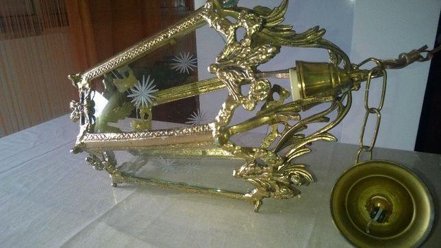 Candeeiro dourado, robusto NOVO