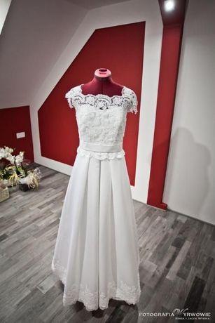 Sprzedam!! Suknia ślubna ROZMIAR 40/42 BOLERKO ślub, wesele