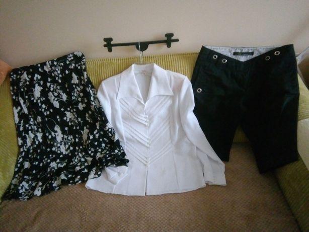 Zestaw: koszula, spódnica, spodenki, rozmiar M
