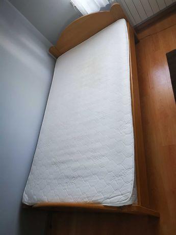 Łóżko dębowe 120x220 + materac