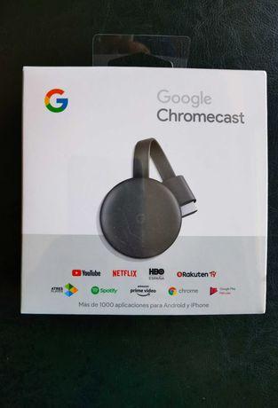 Google Chromecast 3 (NOVO - POR ABRIR)