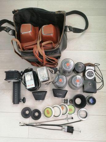Фотоаппарат Киев 15, объективы Юпитер и аксессуары, сумка.