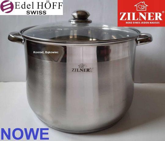 ZILNER Garnek 23L litry z przykrywką na kuchenkę Indukcyjną,Gazową...