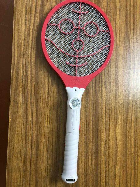 Электрическая мухобойка с фонариком electronic mosquito trap