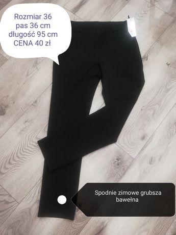 Spodnie materiałowe grubsze rozmiar 36