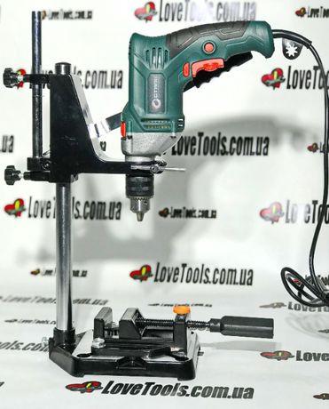Станок для крепления дрели с тисками SPARTA стойка дрель сверлильный
