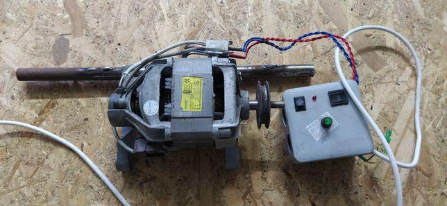Электродвигатель от стиральной машины с регулятором оборотов