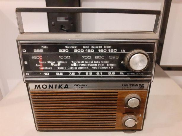 stare zabytkowe radio Monika Unitra drewniane