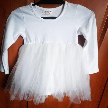 Tiulowa sukienka tunika tutu dla małej księżniczki r. 80 - 86