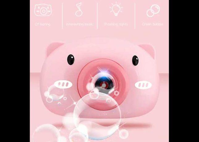 Аппарат для мыльных пузырей Bubble Camera Свинка