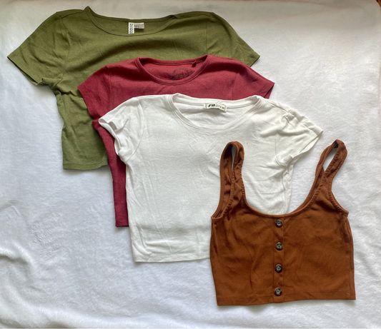 Mega paka koszulki crop top