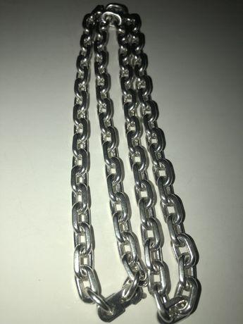 Цепочка серебро 925 проба (якорь с гранями)