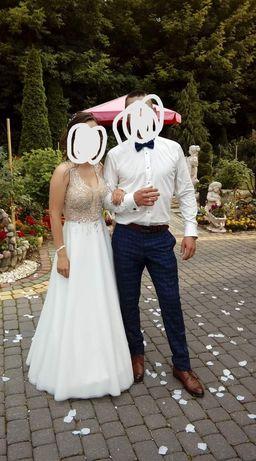 Suknia ślubna ivory 34/36 wzrost 160
