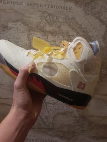 Nike Air Jordan 5 Retro OFF-WHITE Sail Nike, 12.5 US, Срочно! Торг!