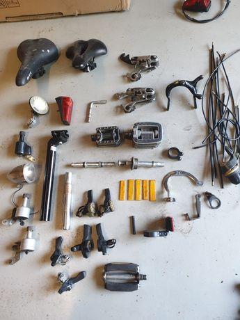 Czesci rowerowe (siodełka, pedały, lampki, dynama, przerzutki)
