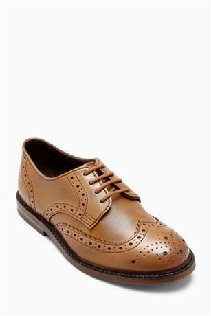 Туфли броги кожаные next