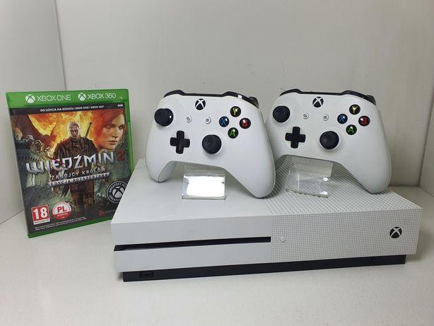 Konsola Xbox One S - Dysk 500GB / 2x Pad / Gra / okablowanie