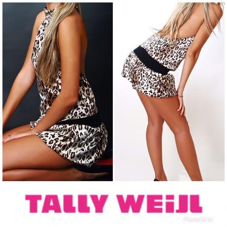 Платье мини, леопардового принта, tally weijl фирмы