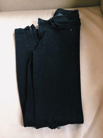 Calça de ganga preta skinny
