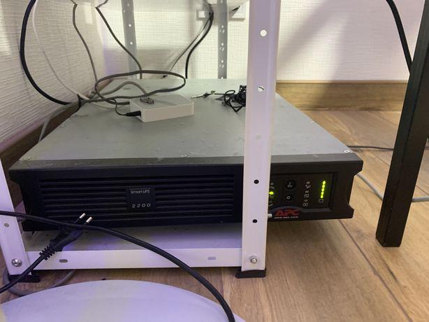 ИБП бесперебойник SmartUps 2200 с батареями