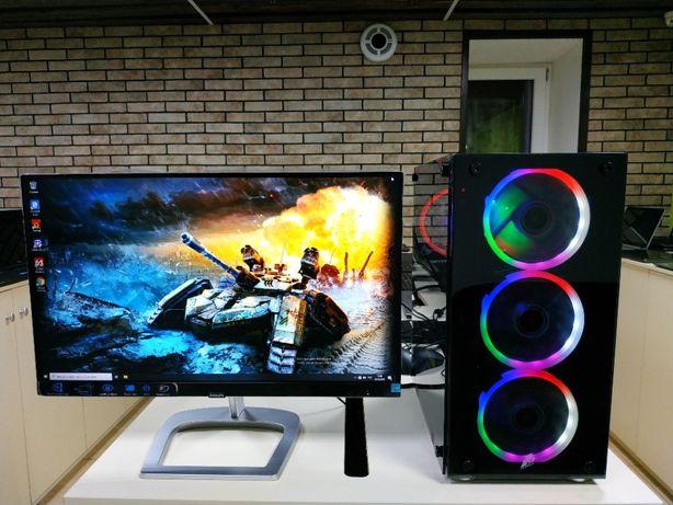 Универсальный ПК, 6 ядер, 32Гб ОЗУ, Видеокарта 8Гб, SSD256+HDD1000