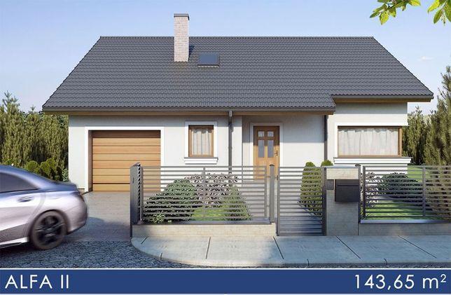 Dom w budowie wg. projekt ALFA II 127,49 m2 , Lisów gm. Morawica!